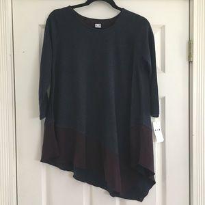 Three Dots asymmetrical tunic top